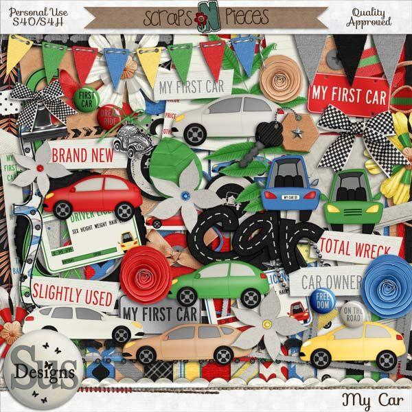 My Car #SusDesigns #DigiScrap #Scrapbook #ScrapsNPieces