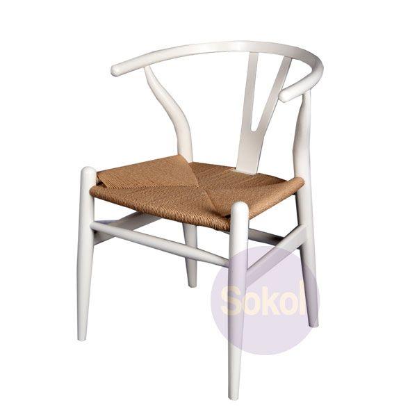Replica Hans Wegner 'Wishbone' Chair - White