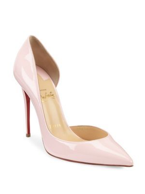 b0d63af7bf3e CHRISTIAN LOUBOUTIN Iriza Patent Leather Half D Orsay Pumps.   christianlouboutin  shoes