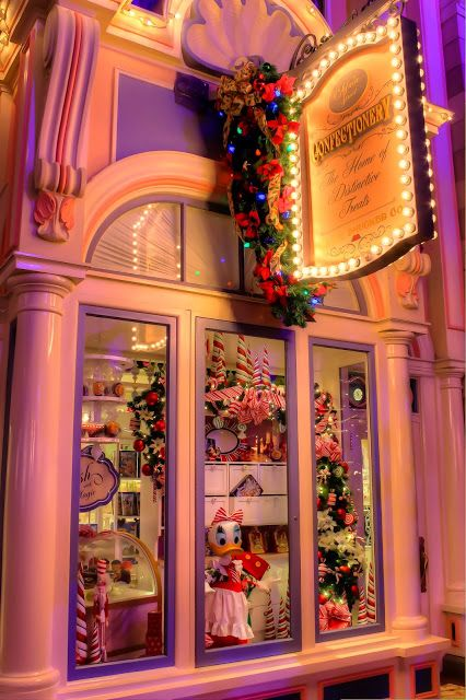 Disney Holiday Treats! Disney Main Street Window ~ Confectionery at Christmas!