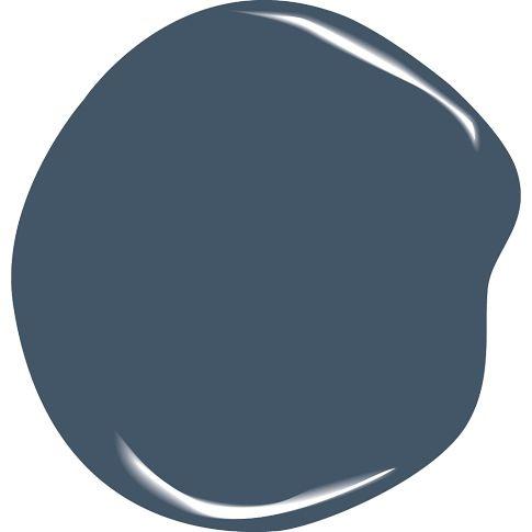 Benjamin Moore Natura Newburyport Blue ... Love this color against white trim