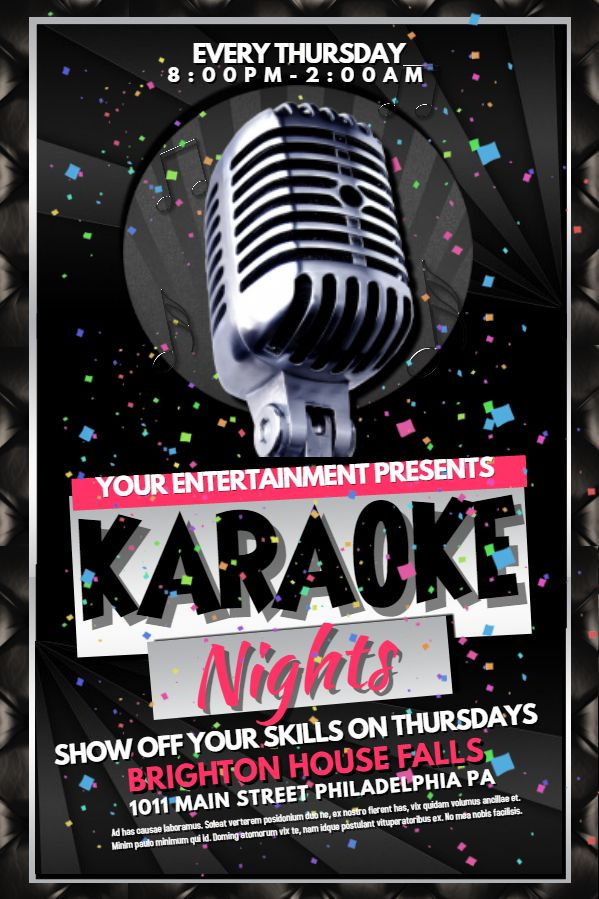30 Best Karaoke Poster Templates Images On Pinterest Online