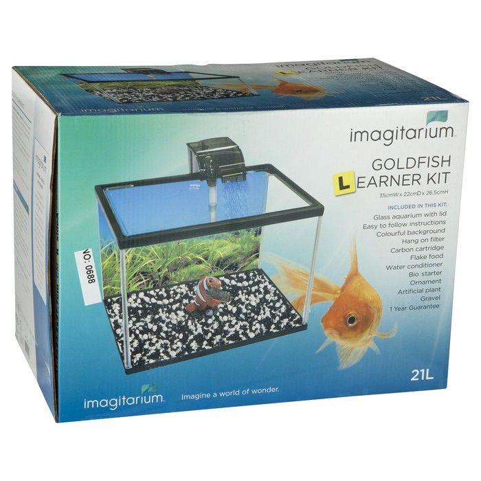 Imagitarium Goldfish Learner Kit 21 Litre Petbarn Goldfish Learners Fish Tank Stand