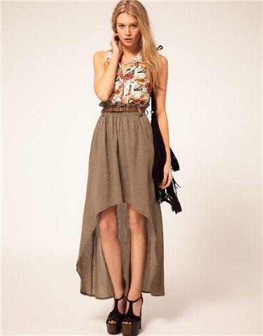 Tail hem las faldas y vestidos tienen un nuevo largo   Galería 9 de 20   Mujerhoy.com