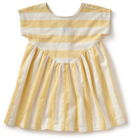 Tea Collection La Donna Stripe Button Back Dress (Big Girls)