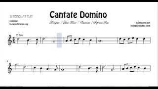 Cantate Domino de Haendel Partitura de Trompeta Clarinete Saxofón Tenor Soprano Sax SI BEMOL