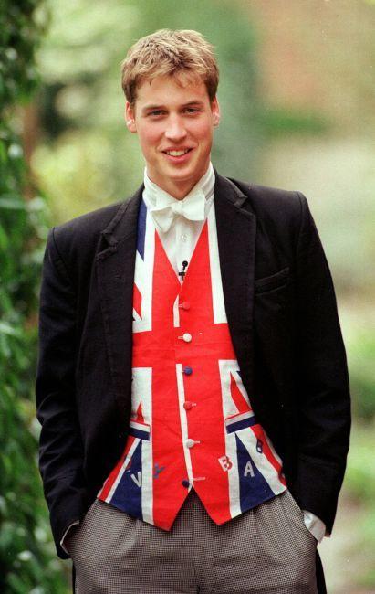 2000年頃のウィリアム王子。イギリス王子の画像