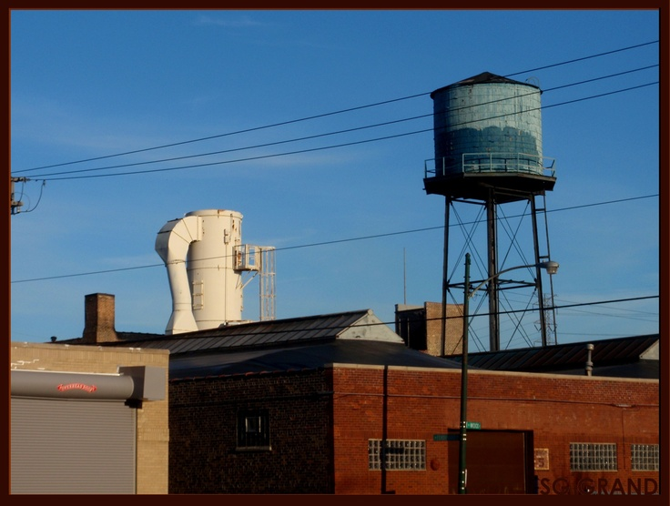 A real-life Charles Sheeler painting, right across the street from my shop. Who could ask for more?