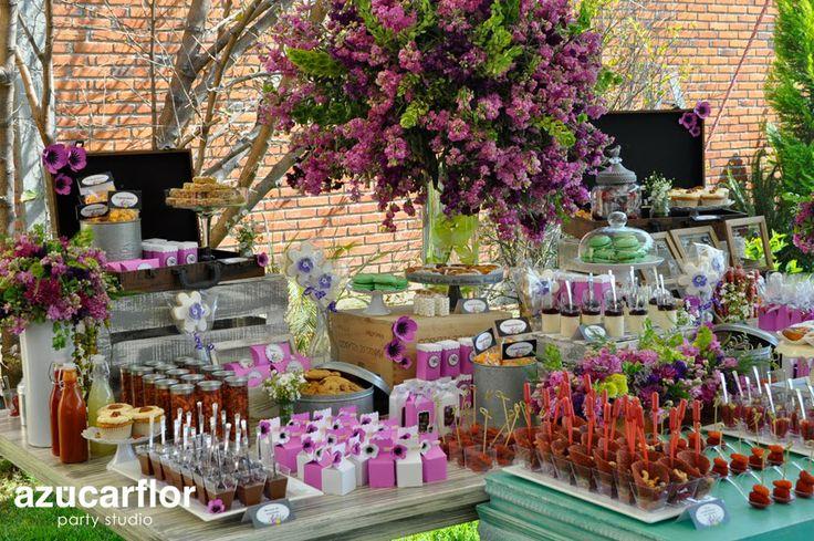 Azucar flor party studio mesas dulces pinterest - Decoracion fiestas vintage ...