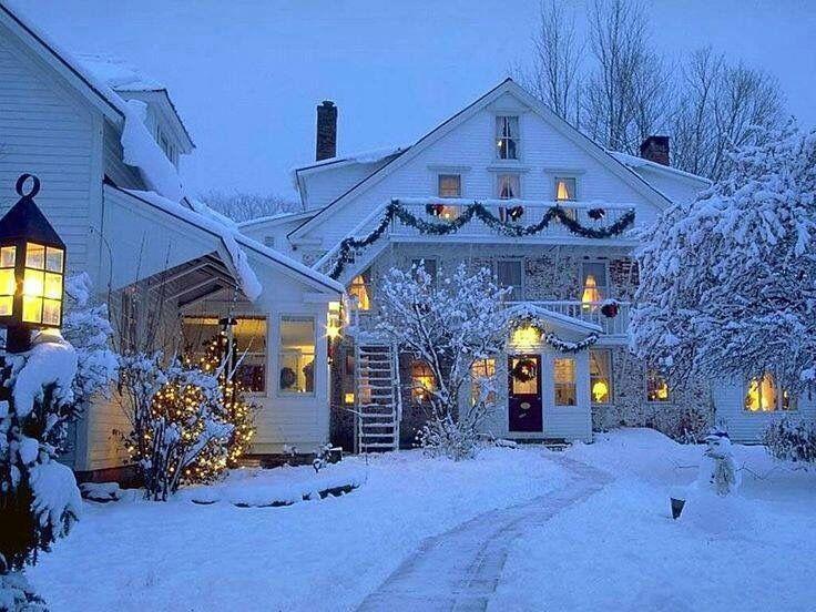 картинки зимний город красивые дома