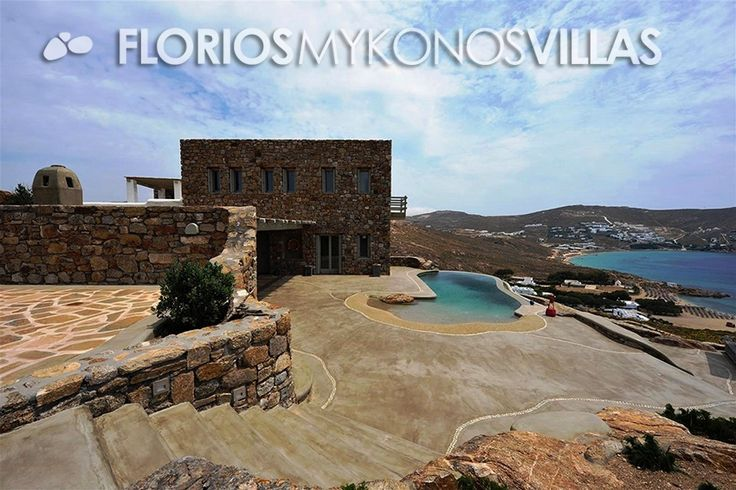 This luxurious Villa for Rent distinguish itself for its unique design, the stunning location and the possibility to be rent together with a similar nearby villa, for large groups while still granting privacy one from the other.FMV1482 Villa for Rent on Mykonos island Greece. http://florios-mykonos-villas.com/property/fmv1482/