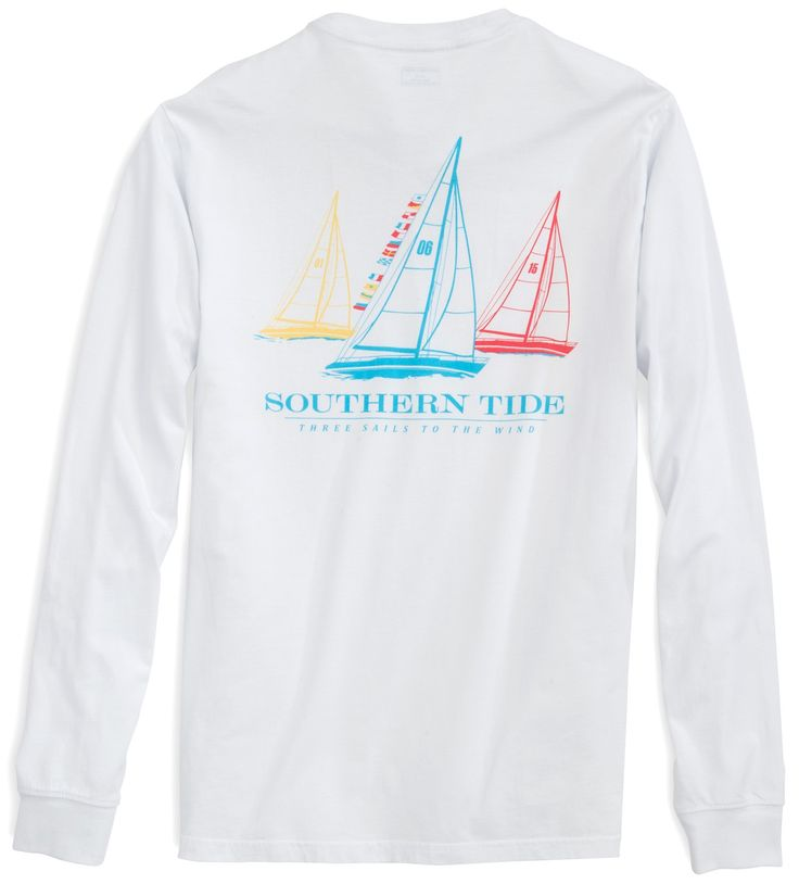 Three Sails Long Sleeve T-shirt | Southern Tide