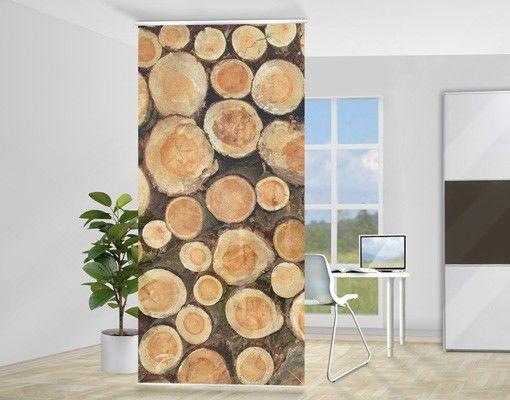 #Raumteiler   Vorhang - No.YK18 Baumstämme 250x120cm #Holzoptik #Holz #Dekoration #Natur #Holzdeko #Gemütlichkeit #Geborgenheit #natürliche #Deko #Holzmuster #Holzstruktur #Wandgestaltung