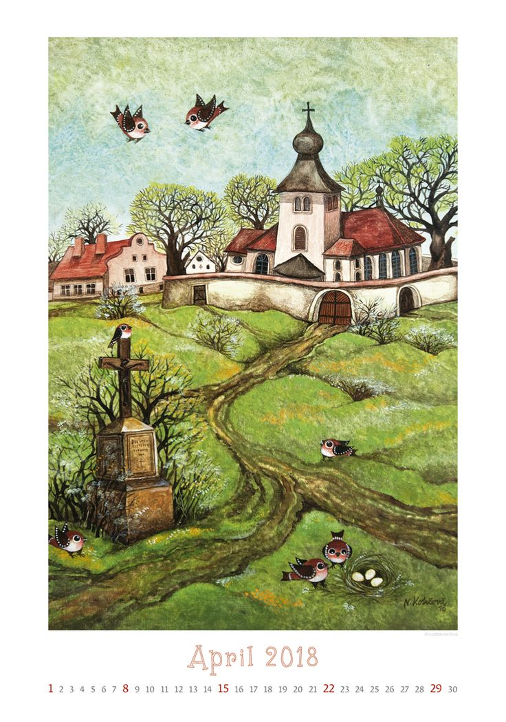 Naděžda Kotrčová, kalendář ART NAIVE 2018