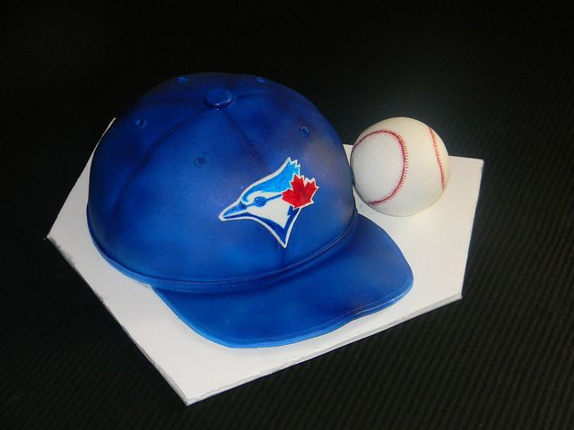Picturesque Blue Jays Cake