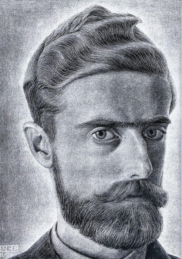 Self-portrait by M.C. Escher, 1929