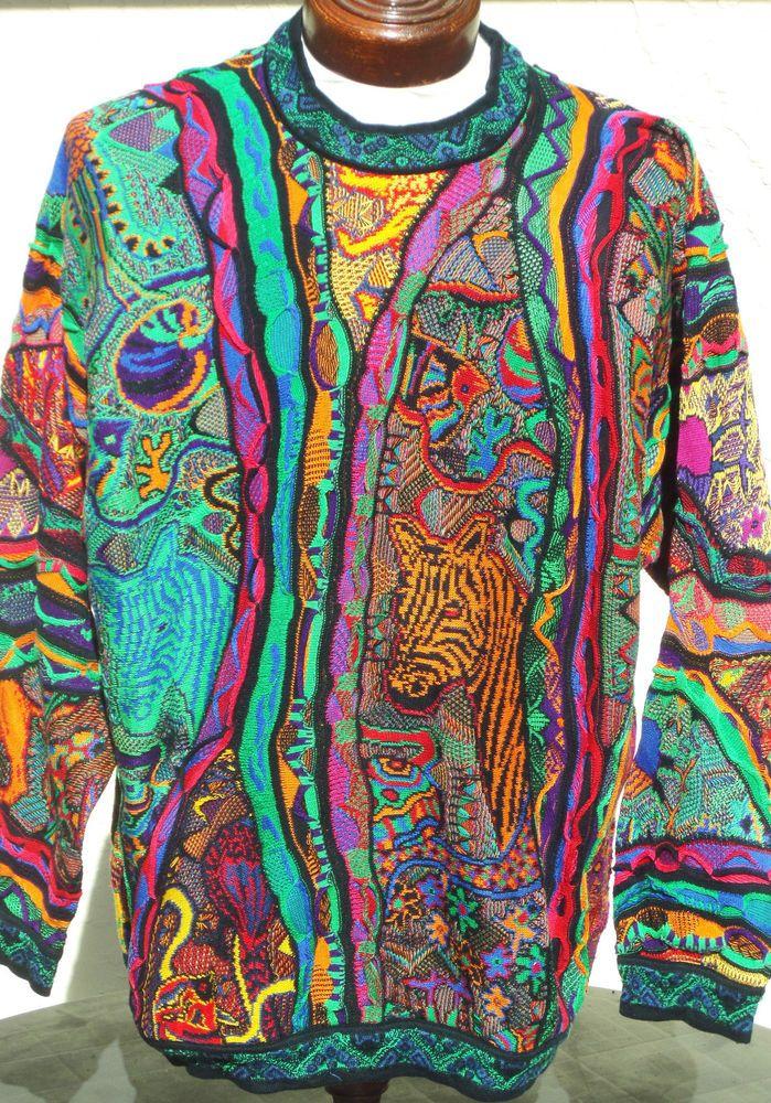 1ff27ed8822 Vintage COOGI Australia Pullover Sweater Mens XL Bill Cosby Hip Hop Biggie  RARE  fashion  clothing  shoes  accessories  mensclothing  coatsjackets  (ebay ...