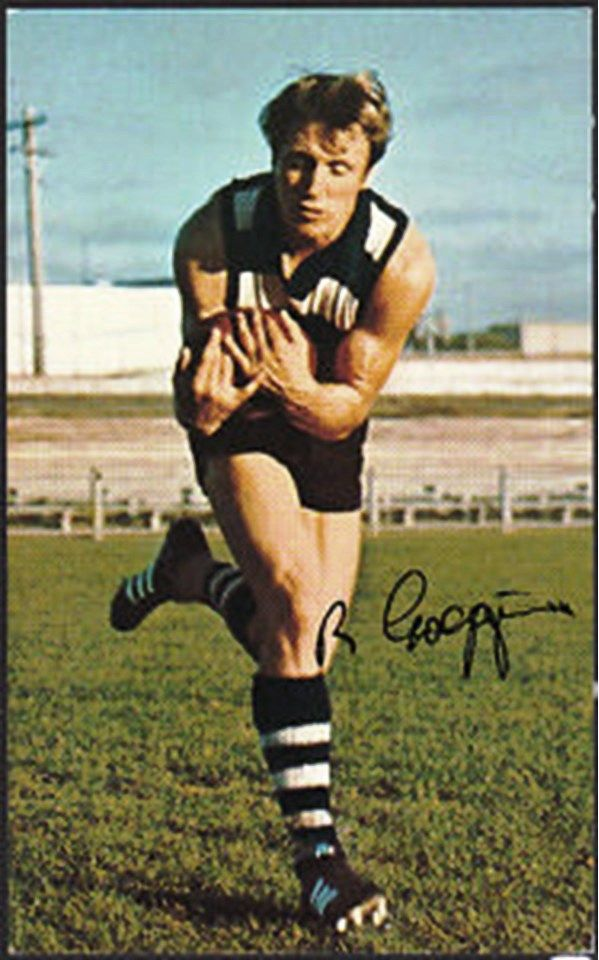 Bill Goggin. Played 1958-1971. Games Geelong 248. Captain 1968-71. Premiership 1963. Coached 1976-1982 Footscray and Geelong.