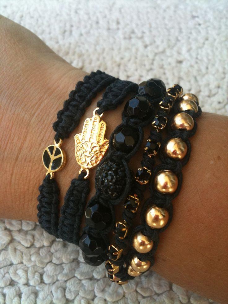 #modas #pulseirismo #pulseira #bracelets #shamballa #black