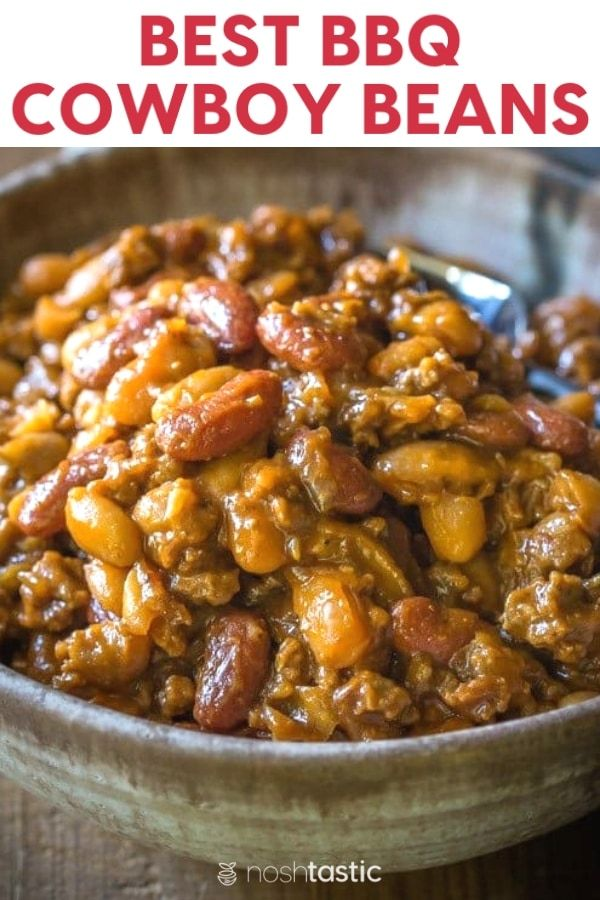 Cowboy Baked Beans With Ground Beef This Is Hands Down The Most Popular Recipe I Ve Made All Year So So Tasty Bbq Baked Beans Cowboy Beans Best Baked Beans