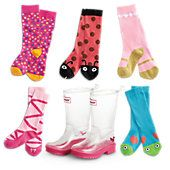NONI GETTING- FOR A & S: clear boots for both. Polka Dot for S and Ballet for A. WellieWishers™ Wellies & Socks Set for Girls