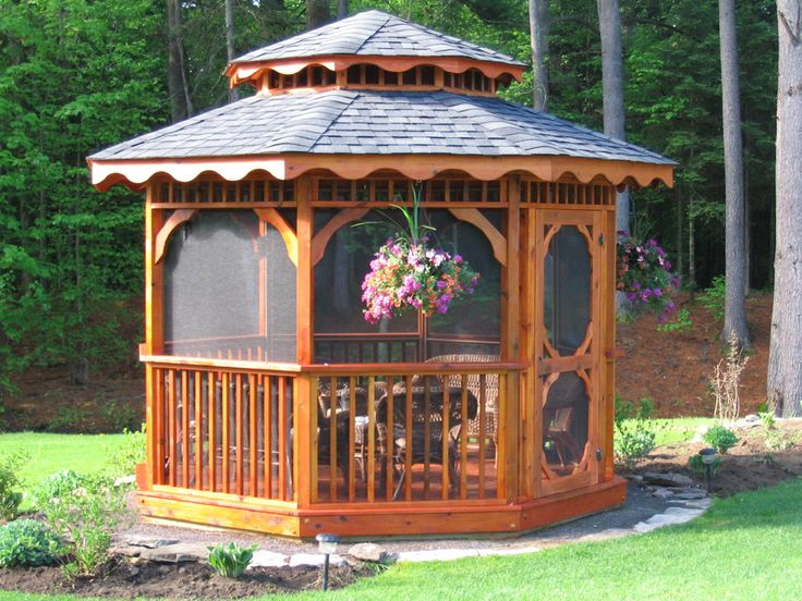 Outdoor. Awesome Wooden Gazebo Kits Use Double Slopping Roofs And Dark Tempered Glass Materials: Cool Gazebo Kits Designs In Outdoor Living Space. Gazebo Design, Backyard Gazebo Kits In Conjunction With Gazebo Canopy Inspiring Creativity  High Quality  Outdoor. [JeremyKalin] House And Home Interior Design Blog, Decorating Ideas And Architecture