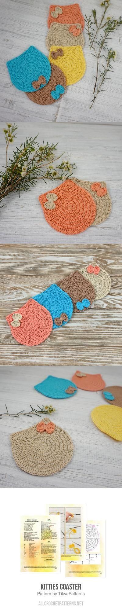 Kitties Coaster crochet pattern