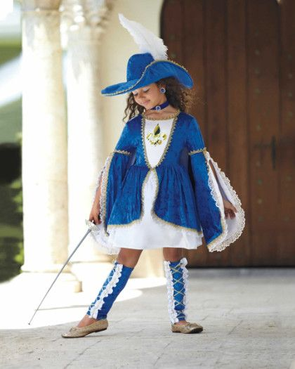 Miss Musketeer Costume For Girls - exclusively ours - Who says all musketeers are boys? You're as brave as they come and stand out in this royal ensemble.