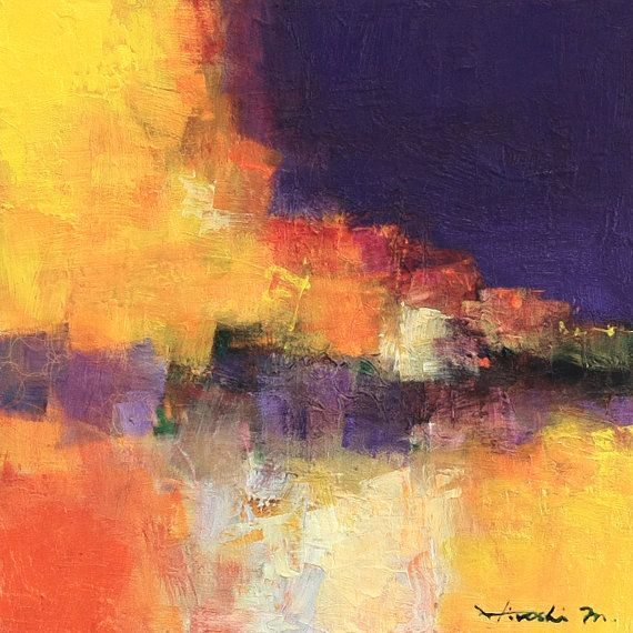 Small Box Painting 1098 - Original Oil Painting - 22.7 cm x 22.7 cm (app. 8.9 inch x 8.9 inch)