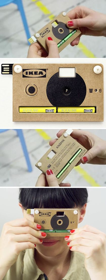 Truffol.com | Cardboard digital camera. #fun #quirky #photography #tech #gadgets