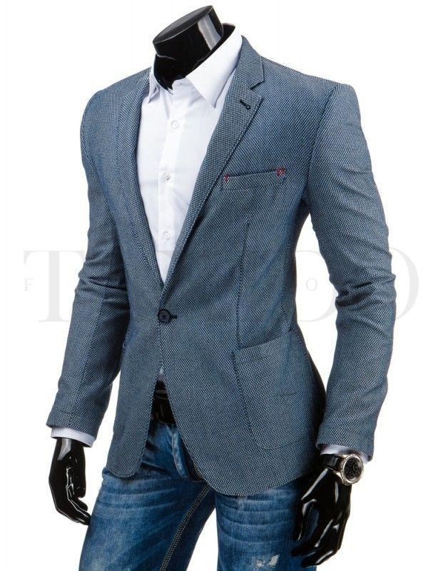 Pánské stylové sako - Tom, modré