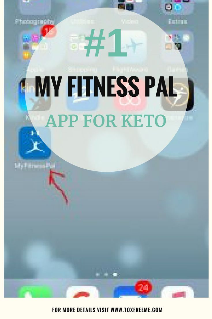 """The #1 app for Keto Dieters, the """"MyFitnessPal"""" app helps you calculate all your important macro nutrients and carb intake.  via @Toxfreeme"""