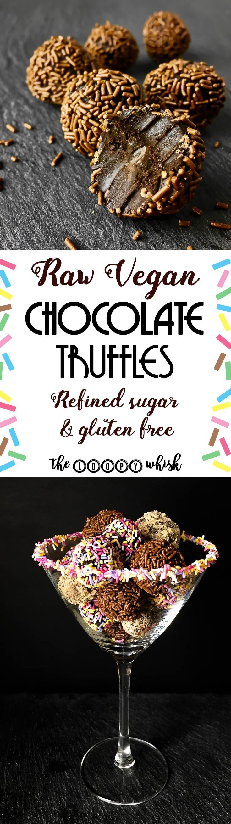 Raw Vegan Chocolate Truffles - A wonderfully simple recipe for wonderfully chocolate-y melt-in-the-mouth taste explosions known as raw vegan chocolate truffles. As an added bonus, these lovelies are a