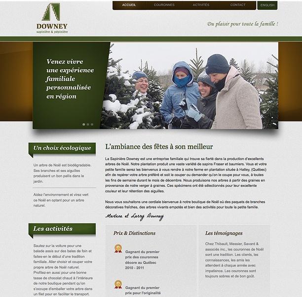 Site Web - Pépinière et Sapinière Downey