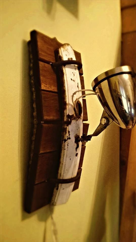 wall lamp from bike parts  old bike mudguard with front lamp