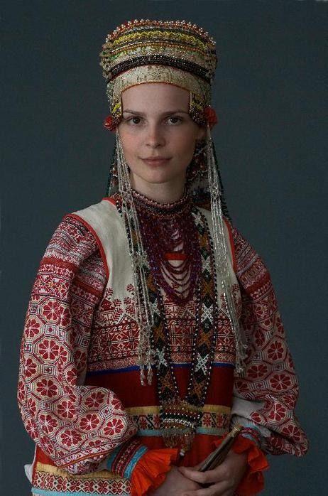 Traje tradicional ruso.