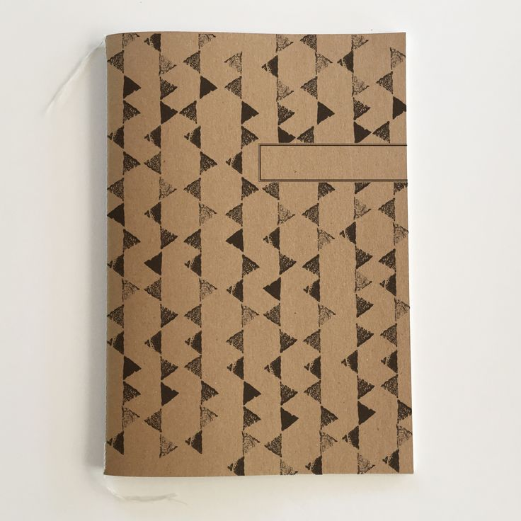 A5 African Pattern Design Notebook. 100% recycled.