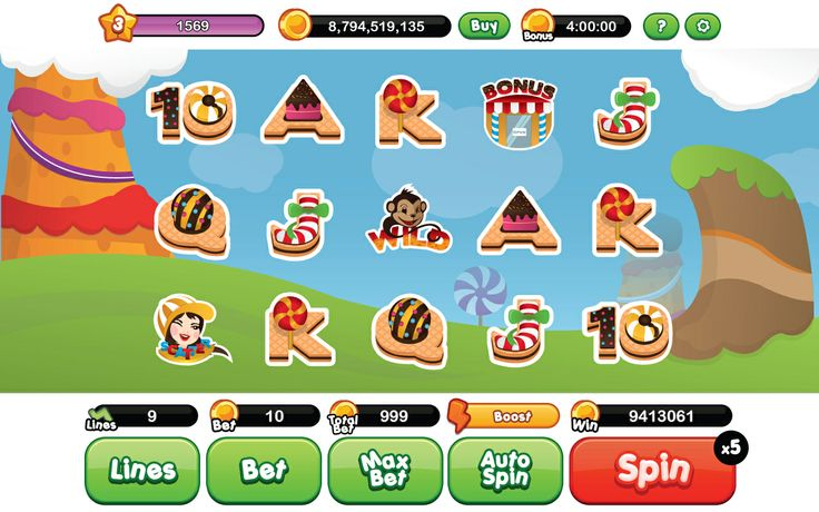 Candy Slot Game Concept for Sale :)