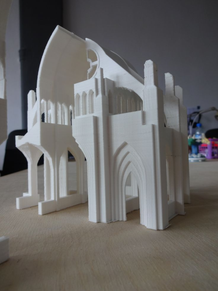 3d printed gothic cathedral, oh my! #3dprint #pirxprinter #3dprinting