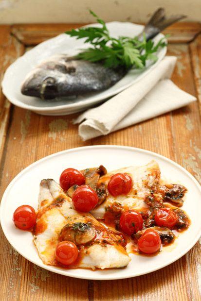 Fillet of sea bream with mushrooms   Ricetta Filetti di orata con funghi porcini   Cirio Cuore Italiano