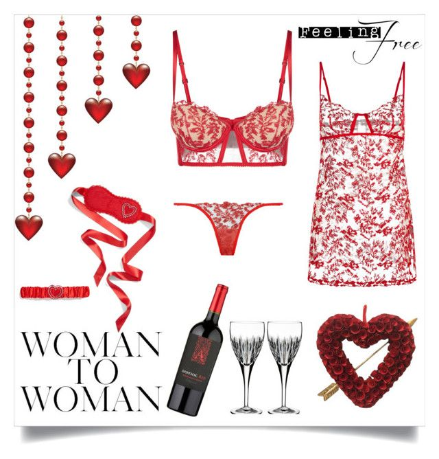 """""""Make Valentines' Day special!"""" by joanna-tabakou on Polyvore featuring La Perla, Waterford and L'Agent By Agent Provocateur"""