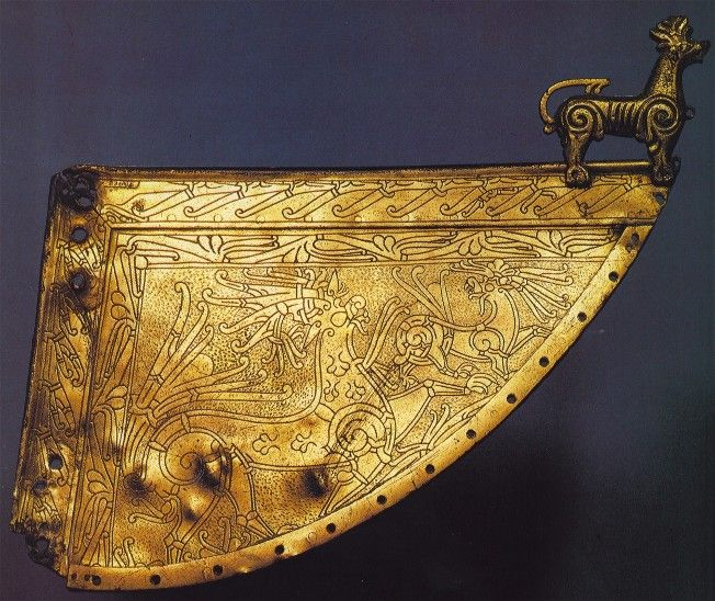 Wolf ornament on Viking ship Weather vane  11th Century CE. Heggen, Norway