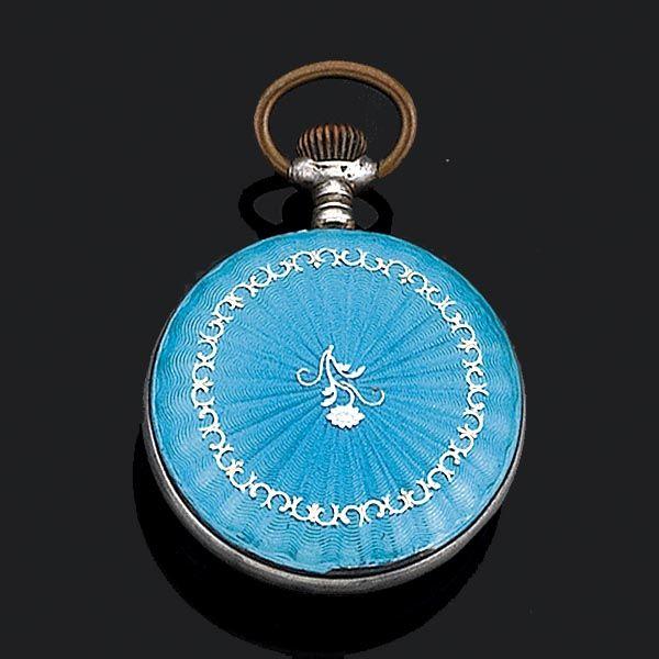 Reloj de colgar esmalte - Subastas Segre