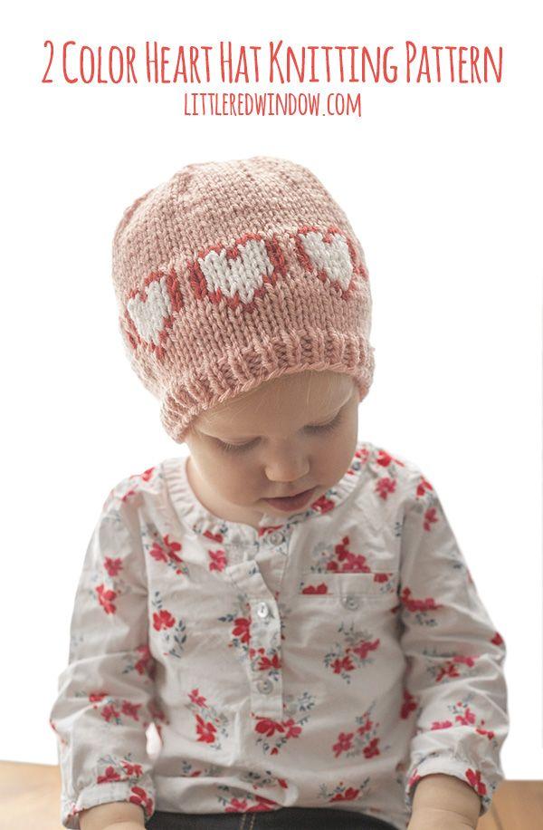 Crocheted Red /& White Fair Isle Newborn Baby Hat