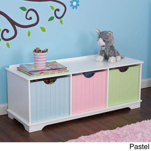 kidkraft nantucket storage bench childrens storage unitskid furniturefurniture