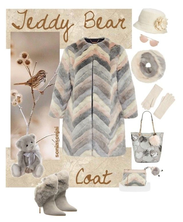 Contest Entry - Teddy Bear Coat - Mar 2017 by soniasonjai on Polyvore featuring polyvore fashion style Ted Baker Schutz Betsey Johnson Bandits Nine West Johnstons of Elgin Linda Farrow Morgan Lane Alpine clothing teddybearcoat