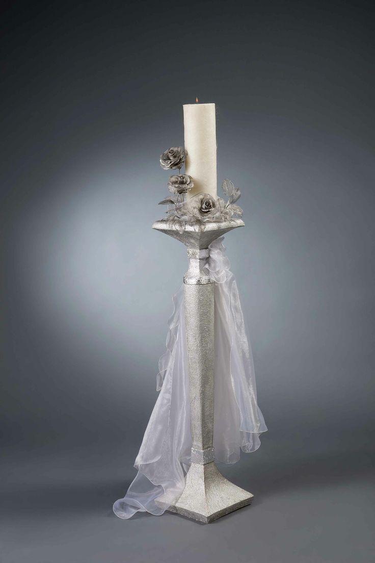 Λαμπάδα γάμου MELITA S - Είδη γάμου & βάπτισης, μπομπονιέρες γάμου | tornaris-rina.gr