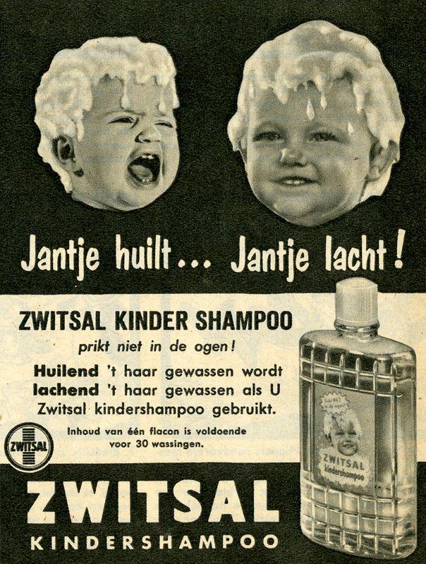 Reclame voor kindershampoo Zwitsal