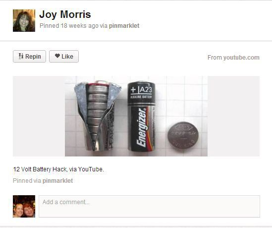 12v battery = $40.00 worth of button cell!