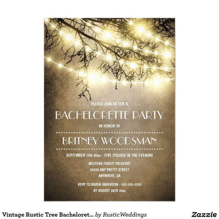 523 best bachelorette party invitations and gifts images on vintage rustic tree bachelorette party invitations stopboris Image collections
